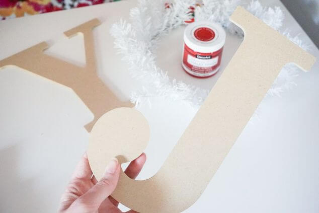 DIY JOY Holiday Wreath - Christmas DIY