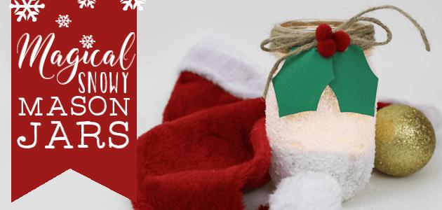 DIY Magical Snowy Mason Jar Craft & Gift Tags