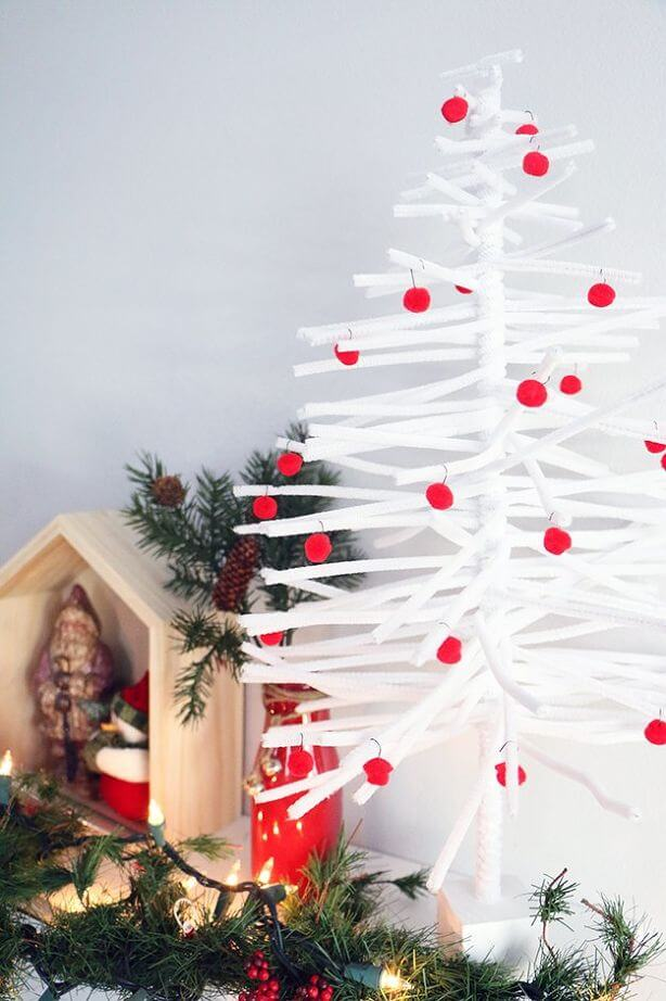 DIY Pipe Cleaner Christmas Tree (10)