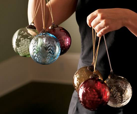 materials i used for this project filler balls glass ornaments - Glass Block Christmas Decorations