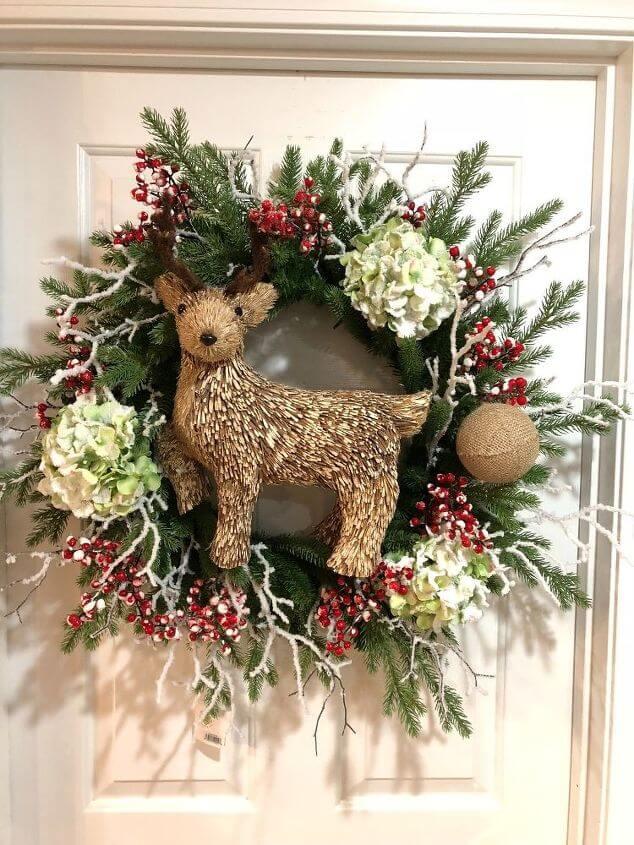 Make DIY Rustic Christmas Wreath - Christmas DIY