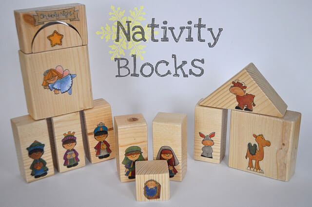 Wooden Nativity Scene Blocks - Christmas DIY