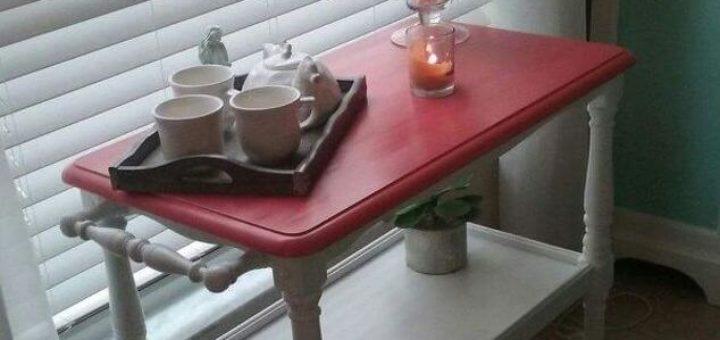 DIY Tea Cart Touch Up