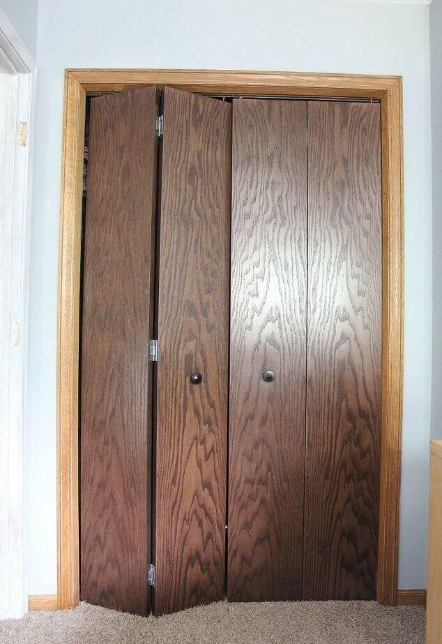 Closet Bifold Door Makeover - Closet Door Makeovers