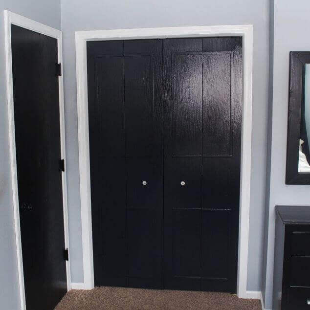 Closet Bifold Door Makeover - Closet Door Makeovers