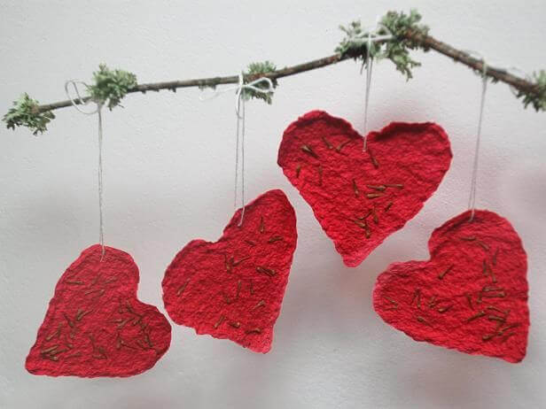 Seed Paper - Making a Valentine's Day Gift