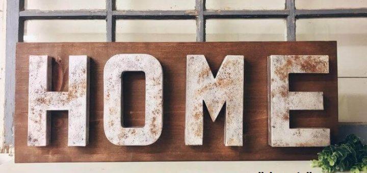 Farmhouse Style Home Sign