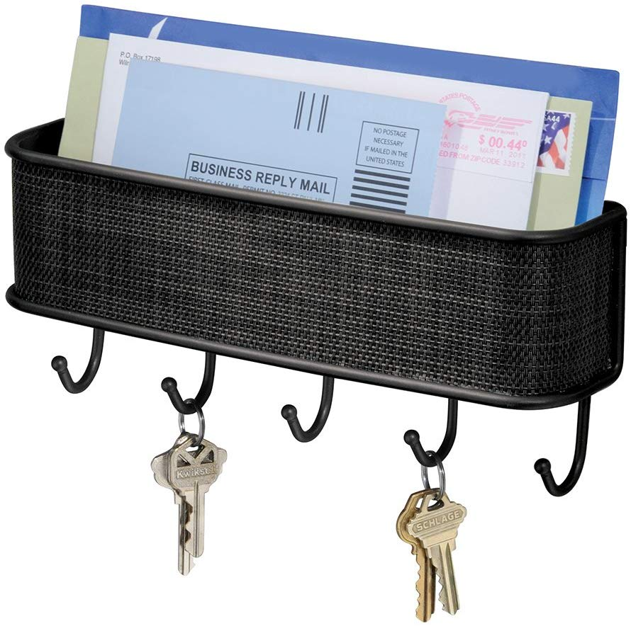5 organizers of letters and keys to place at the entrance of the house and keep everything in one place