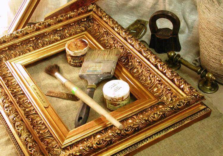 How to paint a frame for a picture