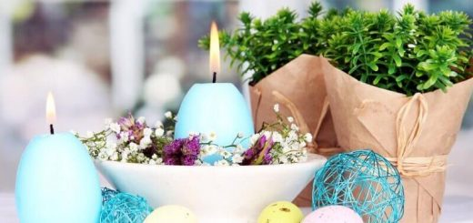 DIY Easter candles in the shape of eggs
