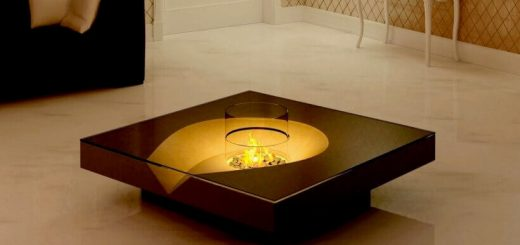 Unusual design of fireplaces