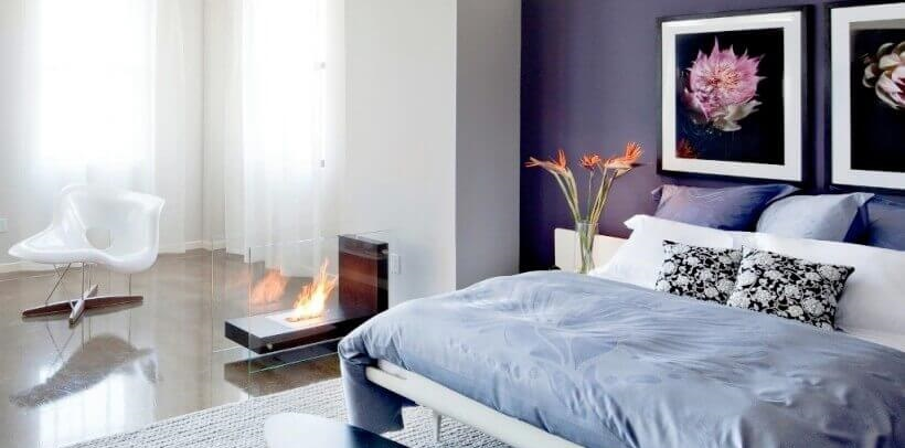 Unusual design of fireplaces
